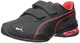 PUMA Tazon 6 SL Wide Kids Sneaker (Toddler/Little Kid/Big Kid) , Black/High Risk Red, 3 M US Little Kid