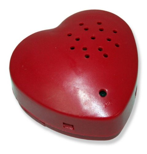 Heart Shaped Message Recorder Sound Module for Stuffed Animal Inserts and Craft Projects