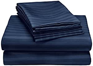 buy nile bedding collection luxury hotel bed sheets egyptian cotton 600 tc 4pcs sheet set 15. Black Bedroom Furniture Sets. Home Design Ideas