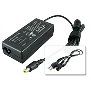 AC Adapter/Power Supply and Cord for Acer Aspire 3003WLCI 3030 4730Z-4631 5517-5086 5534-1073 5536-5142 5552-3691 5732Z-4437 5741 5750-6887 5810T-8233 6530-6522 7741Z-4633 AS5551-2805 AS5552-3691