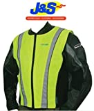 OXFORD BRIGHT TOP HI-VIZ MOTORCYCLE VEST MOTORBIKE TOURING SAFETY JACKET YELLOW J&S (M 35-39