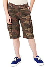 Pure Cotton Camouflage Cargo Shorts