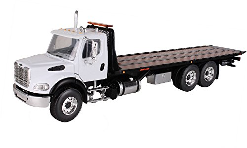 First Gear 1/34 scale Diecast Collectible White/Black Freightliner M2 with Jerr-Dan Rollback Carrier (#10-4020) (Freightliner Diecast compare prices)