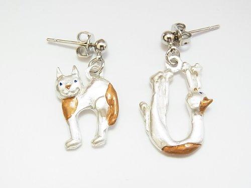 (パルナートポック) Palnart Poc n / u earrings silver alphabet cats cats