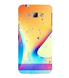 PrintVisa Colorful Drops Pattern 3D Hard Polycarbonate Designer Back Case Cover for Samsung Galaxy A8