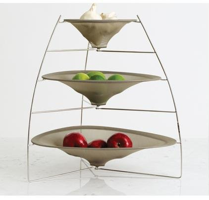 Chilewich raytray three tier fruit bowl smoke 667880911798 - Tiered fruit bowl ...