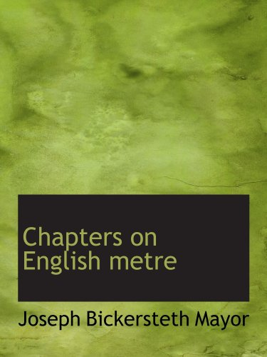 Chapters on English metre