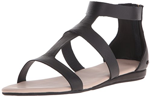 Lacoste Women's Atalaye 116 1 Gladiator Sandal, Black, 5 M US