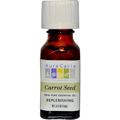 Aura Cacia Pure Essential Oil Carrot Seed - 0.5 fl oz - pack of - 1