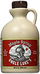 Uncle Luke\'s Pure Maple Syrup, 32 Ounce