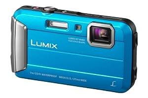 Panasonic Lumix DMC-FT25EB-A Compact Camera - Blue (16.1MP, 4x Optical Zoom, 25mm Ultra Wide Angle, 7m Waterproof, 1.5m Shockproof, Freeze-Proof, HD Video AVCHD)