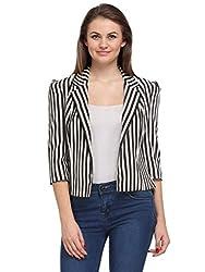 Just Wow 3/4 Sleeve Striped Women's Jacket