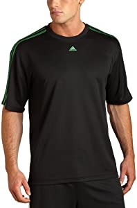 adidas Men's 3 Stripe Short Sleeve Top from Adidas