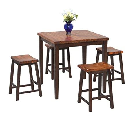 Fifth Ave 5 Pc Pub Set in Acacia Finish