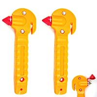 2 Universal Emergency Hammer Window Punch Seat Belt Cutter Car Auto Window Brake
