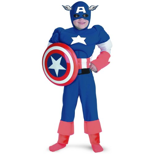 Captain America Classic Muscle Costume - Medium