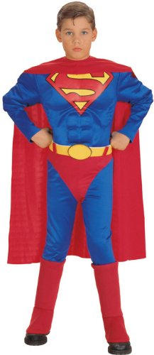 Rubies Costume Co R14063-M Deluxe Muscle Chest Superman Child Size Medium