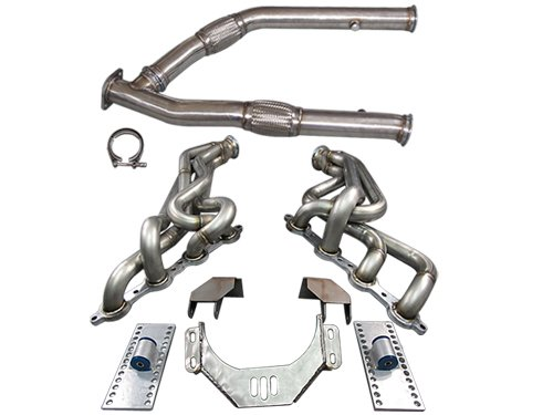 LS1 LSx T56 Mount Kit + Headers Exhaust Mid Y Pipe For 89-94 240SX S13
