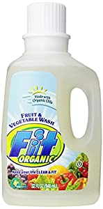 Fit Organic Fruit & Vegetable Wash, Soaker/Refill Bottle, 32-Ounce Units (Pack of 3)