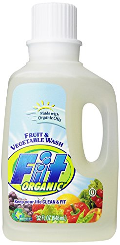 Fit Organic Fruit and Vegetable Wash, Soaker/Refill Bottle, 32-Ounce Units (Pack of 3)