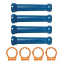 """Loc-Line Coolant Hose Extended Element Kit, Acetal Copolymer, 8 Piece, 1/2"""" Hose ID"""