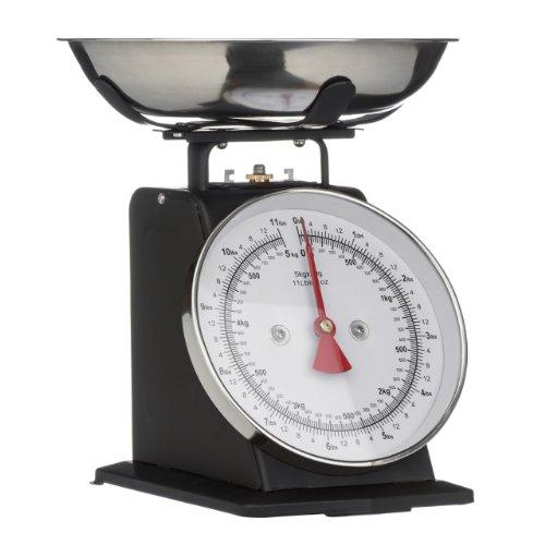 Premier Housewares 0807063 Balance de Cuisine Acier Inoxydable Noir Mat 5 kg