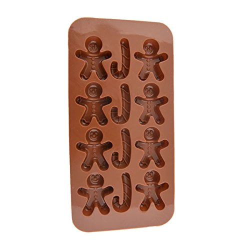 Candy Molds & Ice Cube Trays - Gingerbread Man Christmas Crutches Shape - Molds Biscuit Chocolate Ice Cake (How To Bake A Pot compare prices)