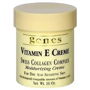 Genes Vitamin E Creme Swiss Collagen Complex Moisturizing Creme
