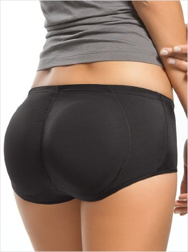 New Sexy Super Low Rise Padded Butt Booster Seamless Underwear (XXL, BLACK) - 05 UNO 9080
