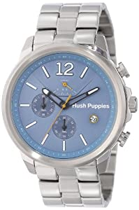 Hush Puppies Orbz Men's Automatic Watch with Blue Dial Analogue Display and Silver Stainless Steel Bracelet HP.6065M.1.1503