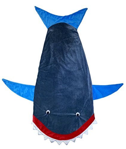 Shark Blanket. Nap Sack Sleeping Bag Pouch with Tail. Soft Polar Fleece. Great for Kids and Teens.