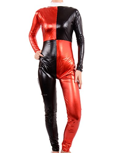 Adult Harley Quinn Cosplay Halloween Costumes Women Sexy Catsuit