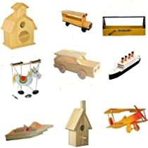 9 Assorted Wood Craft Kits For Kids
