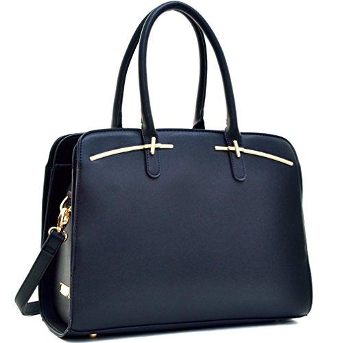 dasein-faux-leather-double-magnetic-closure-satchel-shoulder-bag-tote-hobo-handbag