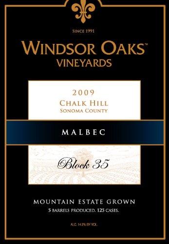 2009 Windsor Oaks Vineyards Chalk Hill Block 35 Malbec 750 Ml