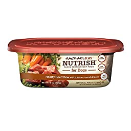 Rachael Ray Nutrish Natural Wet Dog Food, Hearty Beef Stew, 8 oz tub, Pack of 8