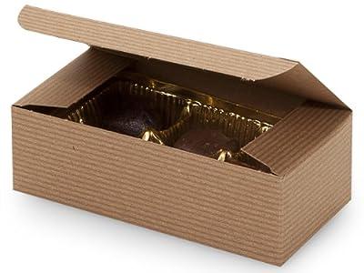 "Set of 10 - 1/2 lb. KRAFT TAN Candy Wedding Party Favor Boxes 5.5"" x 2.75"" x 1.75"""