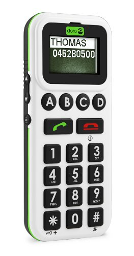 Doro Handleplus 326 i GSM - Genuine SIM Free Mobile Phone for Disabled Sight Impared (4 single memory button version) - White