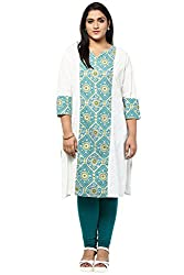 Alto Moda by Pantaloons Womens Cotton Kurta White_2