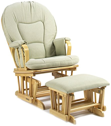 Shermag Deluxe Glider Rocker Combo, Natural/Light Green