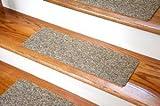 ディーン 手頃な価格のDIY用 カーペット 階段用マット シールタイプ - 色: ベージュ & ブラウンツイード - 13枚セット (並行輸入)