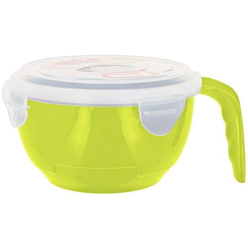 Promobo -Bol à Transporter Take Away Idéal Soupe Salade Fraicheur Avec Couvercle Vert