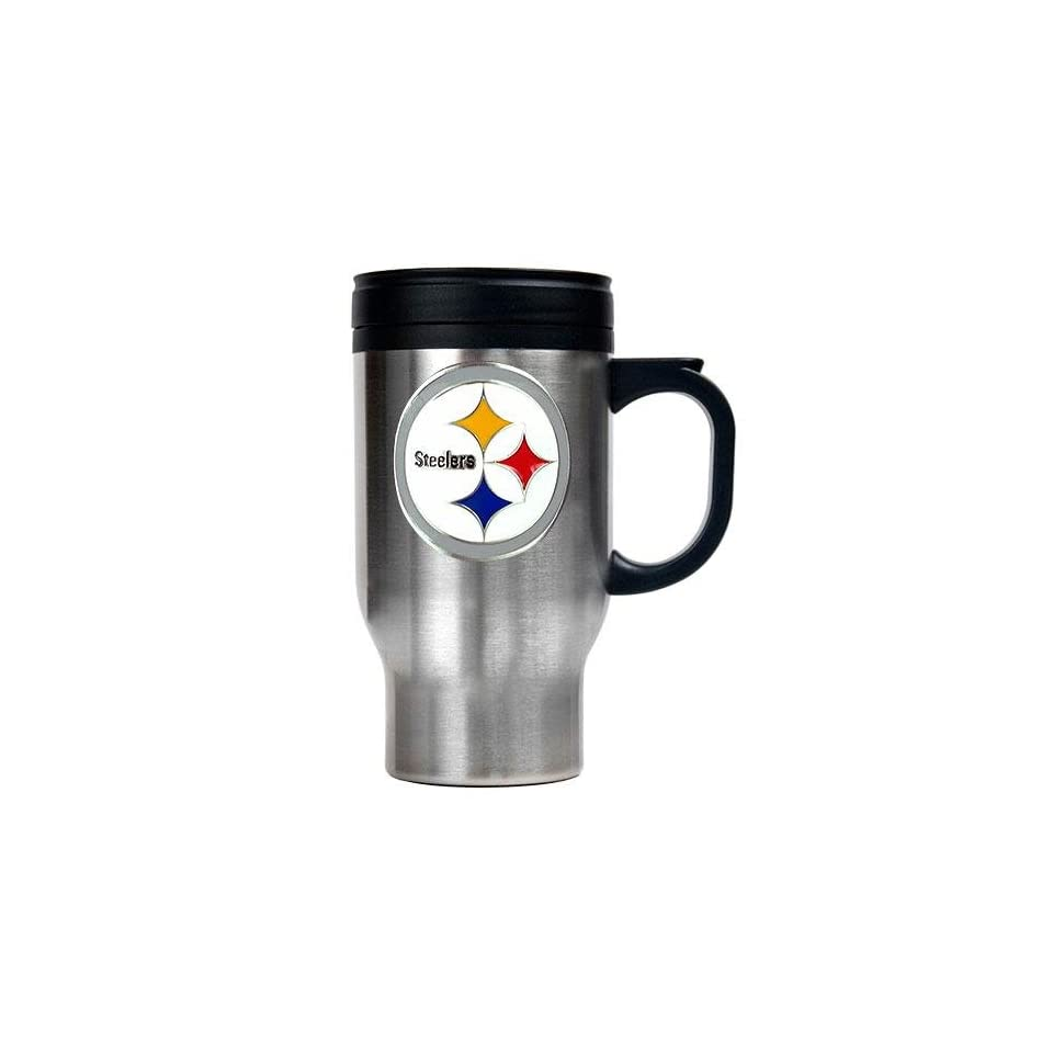 bfd290dd15b Pittsburgh Steelers NFL 16oz Stainless Steel Travel Mug on PopScreen