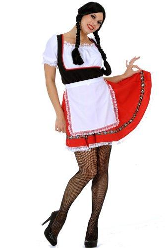sexy Dirndl Kleid kurz weiss rot schwarz günstig bestellen