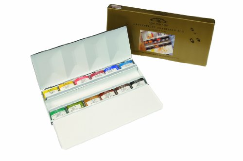 Winsor Newton AWC Heavyweight Enamel Box - 12 Whole Pans