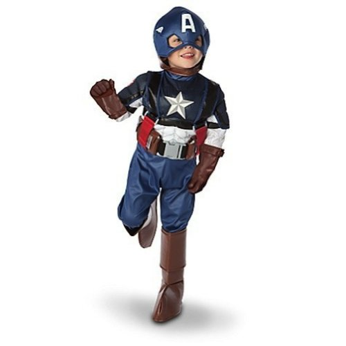 Disney Store Captain America Costume Glow in the Dark Boys Size XS 4 (4T)