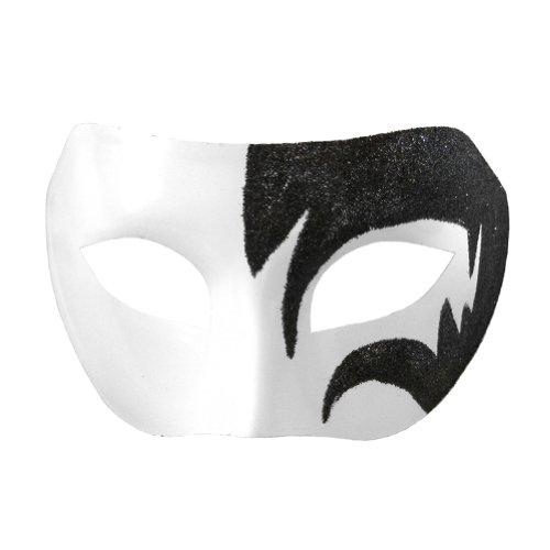 Mystic Black & White Venetian Masquerade Mask ~ Mardi Gras Masks