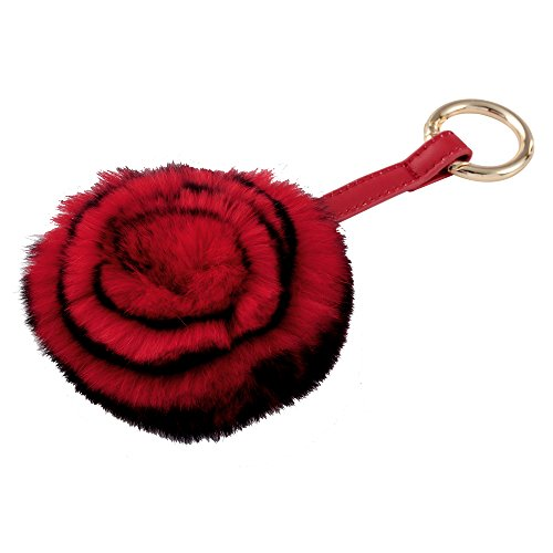 Key cashmere visone e doppia faccia specchio color rosso
