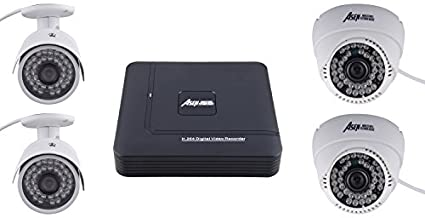 Asen 4-Channel DVR , 2 Dome, 2 Bullet Cameras (with 1TB HDD, Cable)