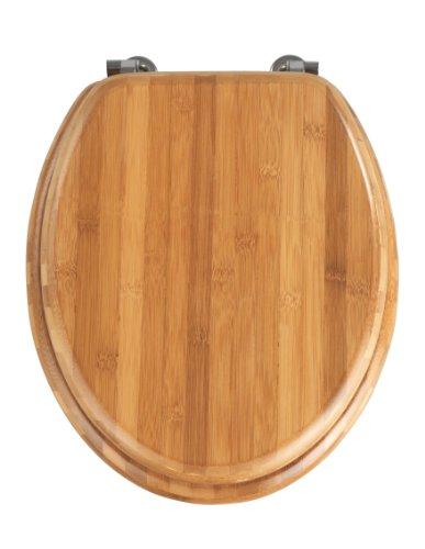 wenko-144726100-asiento-tapa-wc-bambus-sujecion-de-metal-cromo-bambu-37-x-425-cm-marron-oscuro